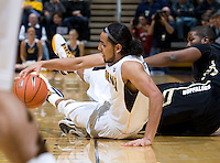 Jorge Gutierrez of California steals the ball away from Colorado during the game at Haas Pavilion in Berkeley, California on January 12th, 2012.   California defeated Colorado, 57-50.
