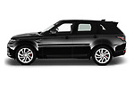 Car driver side profile view of a 2018 Land Rover Range Rover Sport HSE Dynamic 5 Door SUV