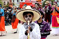 PASTO- COLOMBIA, 02-01-2019: Unos 1.700 niños desfilaron en el llamado Carnavalito. Carrocitas, comparsitas, murguitas, colectivos coreográficos fueron el deleite de miles de asistentes en el primer día del Carnaval de Negros y Blancos de Pasto. Temas como el de la película Coco, trajes de fantasía, representaciones del medio ambiente, ñapangas, danzas tradicionales hicieron su presentación. / Some 1.700 children paraded in the so-called Carnavalito. Carrocitas, comparsitas, murguitas, choreographic collectives were the delight of thousands of attendees on the first day of the Carnival of Negros and Blancos de Pasto. Themes such as the movie Coco, fantasy costumes, representations of the environment, ñapangas, traditional dances made their presentation. / Photo: Vizzorimage / Leonardo Castro  / Cont.
