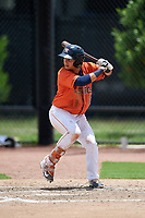 GCL Astros right fielder Wilyer Abreu (17) at bat during a game against the GCL Nationals on August 6, 2018 at FITTEAM Ballpark of the Palm Beaches in West Palm Beach, Florida.  GCL Astros defeated GCL Nationals 3-0.  (Mike Janes/Four Seam Images)