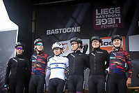 Team Canyon Sram Racing pre race team presentation. <br /> <br /> 3th Liège-Bastogne-Liège-Femmes 2019 (1.WWT)<br /> 1 Day Race: Bastogne – Liège 138,5km<br /> <br /> ©kramon