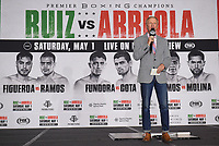 LOS ANGELES, CA - APRIL 30: Jimmy Lennon Jr. at the official weigh-in for the Andy Ruiz Jr. vs Chris Arreola Fox Sports PBC Pay-Per-View in Los Angeles, California on April 30, 2021. The PPV fight is on May 1, 2021 at Dignity Health Sports Park in Carson, CA. (Photo by Frank Micelotta/Fox Sports/PictureGroup)