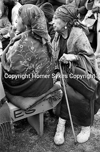 Native Indigenous Americans 1960s US. American Indian women Pendleton Oregon wear turbans and shawls and moccasins 1969 USA