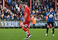 KV Kortrijk - Club Brugge : Thanasis Papazoglou verdwijnt met rood van het veld <br /> Foto VDB / Bart Vandenbroucke