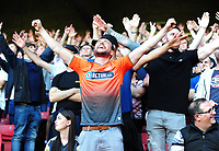 Swansea City fans celebrate at final whistle during the Sky Bet Championship match between Sheffield United and Swansea City at Bramall Lane, Sheffield, England, UK. Saturday 04 August 2018