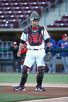 Jose Ruiz (27) of the Lake Elsinore Storm during a game against the High Desert Mavericks at The Diamond on April 27, 2016 in Lake Elsinore, California. High Desert defeated Lake Elsinore, 10-2. (Larry Goren/Four Seam Images)
