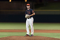 AZL Giants Black relief pitcher Cooper Casad (62) gets ready to deliver a pitch during an Arizona League game against the AZL Rangers at Scottsdale Stadium on August 4, 2018 in Scottsdale, Arizona. The AZL Giants Black defeated the AZL Rangers by a score of 6-3 in the second game of a doubleheader. (Zachary Lucy/Four Seam Images)