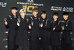 """EXO-K, Jul 24, 2014 : South Korean boy band EXO-K, pose during a photo call before the 10th anniversary live special of weekly music chart show, """"M! Countdown"""" of Mnet in Goyang, north of Seoul, South Korea.  (Photo by Lee Jae-Won/AFLO) (SOUTH KOREA)"""