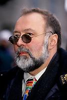 Le president de l'UDA Serge Turgeon <br />  aux Funerailles de Gratien Gelinas, <br /> 19 mars 1999, a la Basilique Notre-Dame.<br /> <br /> PHOTO : Agence Quebec Presse - Pierre Roussel
