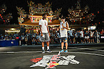 Players compete in the Red Bull Taiwan King of the Rock World Final Slam Dunk 2014 on September 05, 2014 at Tin Hau Temple in Taitung City, Taiwan. Photo by Xaume Olleros / Power Sport Images