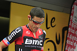 George Hincapie (USA) BMC Racing Team at sign on before the start of Stage 2 of the 99th edition of the Tour de France 2012, running 207.5km from Vise to Tournai, Belgium. 2nd July 2012.<br /> (Photo by Eoin Clarke/NEWSFILE)