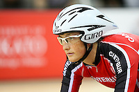 Canterbury's Elizabeth Steel at the BikeNZ Elite & U19 Track National Championships, Avantidrome, Home of Cycling, Cambridge, New Zealand, Sunday, March 16, 2014. Credit: Dianne Manson