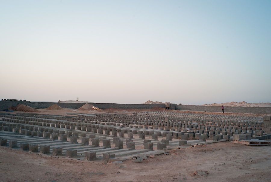 Unnamed graves line the cemetery for suspected Gaddafi loyalists in Misrata, Libya.
