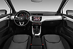 Stock photo of straight dashboard view of a 2018 Seat Arona Xcellence 5 Door SUV