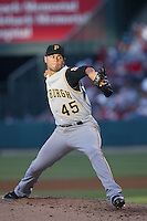 Ian Snell of the Pittsburgh Pirates during a game against the Los Angeles Angels in a 2007 MLB season game at Angel Stadium in Anaheim, California. (Larry Goren/Four Seam Images)