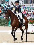April 24, 2014: Gin & Juice and Hawley Bennett-Awad compete in Dressage at the Rolex Three Day Event in Lexington, KY at the Kentucky Horse Park.  Candice Chavez/ESW/CSM