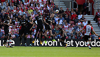 Maya Yoshida of Southampton (R) takes a free kick during the Premier League match between Southampton and Swansea City at the St Mary's Stadium, Southampton, England, UK. Saturday 12 August 2017