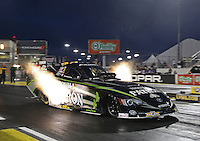 Apr. 5, 2013; Las Vegas, NV, USA: NHRA funny car driver Alexis DeJoria during qualifying for the Summitracing.com Nationals at the Strip at Las Vegas Motor Speedway. Mandatory Credit: Mark J. Rebilas-