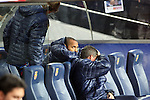 Football Season 2009-2010. Barcelona's player Thierry Henry on the bench during their spanish liga soccer match between Barcelona vs Valencia at Camp Nou  stadium in Barcelona. 14 March 2010.