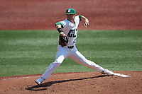 Charlotte 49ers relief pitcher Trae Starnes (30) in action against the UTSA Roadrunners at Hayes Stadium on April 18, 2021 in Charlotte, North Carolina. (Brian Westerholt/Four Seam Images)