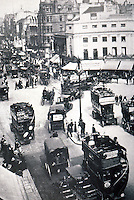 London: Oxford Circus, 1908. Looking east from west of circus. Benny Green, THE STREETS OF LONDON.