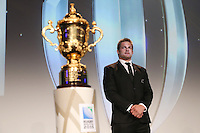 LONDON, ENGLAND - NOVEMBER 01:  World Cup winning captain, Richie McCaw of New Zealand arrives with the Webb Ellis Cup during the World Rugby Awards 2015 at Battersea Evolution on November 1, 2015 in London, England.  (Photo: World Rugby)