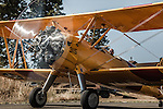 Stearman taxiing at 2014 Hood River Fly-In at WAAAM.