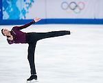 Jeremy Abbott of USA competes during Figure Skating Men's Short Program of the 2014 Sochi Olympic Winter Games at Iceberg Skating Palace on February 12, 2014 in Sochi, Russia. Photo by Victor Fraile / Power Sport Images