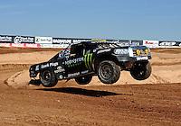 Mar. 18, 2011; Chandler, AZ, USA;  LOORRS pro 4 unlimited driver Rick Huseman during qualifying for round one at Firebird International Raceway. Mandatory Credit: Mark J. Rebilas-