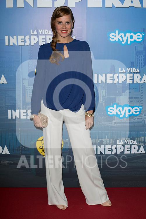 "Spanish Actress Maria Castro attend the Premiere of the movie ""La vida inesperada"" at the Callao Cinema in Madrid, Spain. April 25, 2014. (ALTERPHOTOS/Carlos Dafonte)"