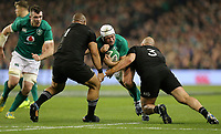 Saturday 17th November 2018 | Ireland vs New Zealand<br /> <br /> Rory Best is tackled by Karl Tu'inukuafe and Owen Franks during 2018 Guinness Series between Ireland and Argentina at the Aviva Stadium, Lansdowne Road, Dublin, Ireland. Photo by John Dickson / DICKSONDIGITAL