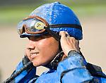 10 July 2010:  Jockey Elvis Trujillo after the Smile Sprint Handicap at Calder Race Course in Miami Gardens, FL.