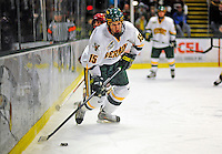10 January 2009: University of Vermont Catamount defenseman Kevan Miller, a Sophomore from Los Angeles, CA, in action against the Boston College Eagles during the second game of a weekend series at Gutterson Fieldhouse in Burlington, Vermont. The Catamounts rallied from an early 2-0 deficit to defeat the visiting Eagles 4-2. Mandatory Photo Credit: Ed Wolfstein Photo