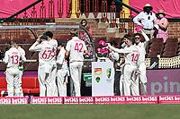 9th January 2021; Sydney Cricket Ground, Sydney, New South Wales, Australia; International Test Cricket, Third Test Day Three, Australia versus India; the Australian team donate pink caps as part of Jane McGrath Foundation day