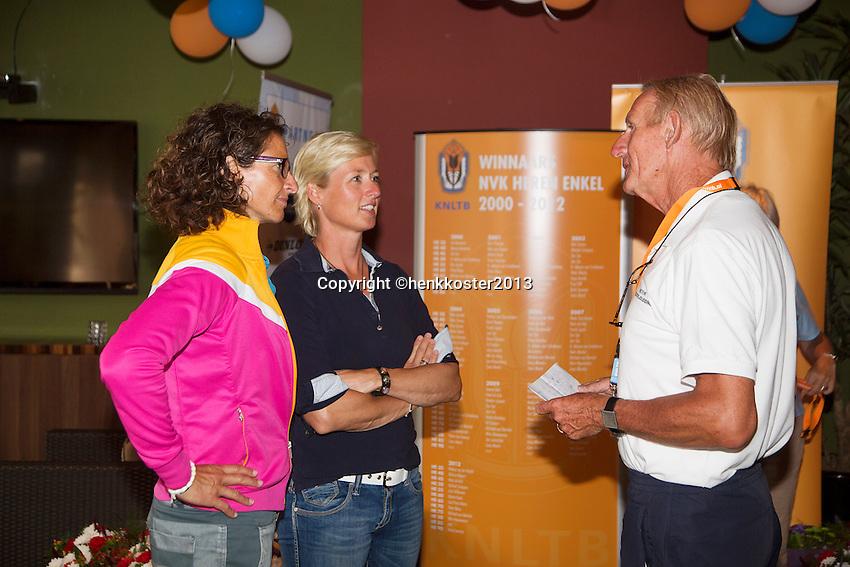 2013,August 24,Netherlands, Amstelveen,  TV de Kegel, Tennis, NVK 2013, National Veterans Tennis Championships,   Prizegiving<br /> Photo: Henk Koster