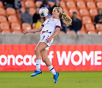 HOUSTON, TX - JANUARY 28: Lindsey Horan #9 of the United States controls the ball during a game between Haiti and USWNT at BBVA Stadium on January 28, 2020 in Houston, Texas.