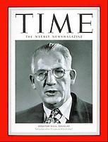 Time Cover, Senator Paul Douglas, January 22, 1951. Photo by John G. Zimmerman.