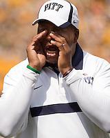 Pitt coach Paul Randolph. The Pitt Panthers beat the Maine Black Bears 35-29 at Heinz Field, Pittsburgh, PA on September 10, 2011.