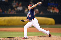 Memphis Redbirds pitcher Nick Greenwood (31) delivers a pitch during a game against the Oklahoma City RedHawks on May 23, 2014 at AutoZone Park in Memphis, Tennessee.  Oklahoma City defeated Memphis 12-10.  (Mike Janes/Four Seam Images)