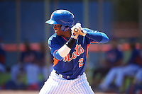 GCL Mets left fielder Grabiel Jimenez (2) at bat during a game against the GCL Marlins on August 12, 2016 at St. Lucie Sports Complex in St. Lucie, Florida.  GCL Marlins defeated GCL Mets 8-1.  (Mike Janes/Four Seam Images)