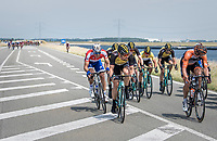 When exposed to the heavy sea winds, Team LottoNL-Jumbo forces the peloton to break into echelons. At this point they're checking with each other whether they'll continue forcing this pace as they've still got +100km to cover at this point.<br /> Also Marcel Kittel (DEU/QuickStep Floors) made this first break.<br /> <br /> Ster ZLM Tour (2.1)<br /> Stage 2: Tholen > Hoogerheide (186.8km)