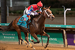 September 18, 2021: Hidden Connection #9, ridden by jockey Reylu Gutierrez wins the Pocahontas Stakes (Grade 3) for two-year-old fillies at Churchill Downs in Louisville, K.Y. on September 18th, 2021. Jessica Morgan/Eclipse Sportswire/CSM