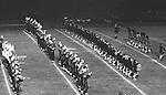 Bethel Park PA:  Bethel Park Band and Bethettes performing during Senior Night at Bethel Park High School Football field.