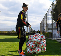 20190228 - LARNACA , CYPRUS : Belgian Nicky Evrard pictured during a Matchday -1 training from The Belgian Red Flames prior to their game against the women team of Austria , on Thursday 28 February 2019 at the Alpha Sports Grounds in Larnaca , Cyprus . This will be the second game in group C for Belgium during the Cyprus Womens Cup 2019 , a prestigious women soccer tournament as a preparation on the European Championship 2021 qualification duels. PHOTO SPORTPIX.BE | DAVID CATRY