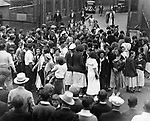 The Rayon Mills Strike in Watertown, circa 1933.
