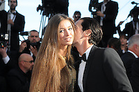 Adrien Brody et safemme .Cannes 21/5/2013 .66mo Festival del Cinema di Cannes 2013 .Foto Panoramic / Insidefoto .ITALY ONLY