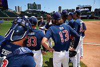 during the Under Armour All-America Game, powered by Baseball Factory, on July 22, 2019 at Wrigley Field in Chicago, Illinois.   attends  in  and is committed to .  (Mike Janes/Four Seam Images)