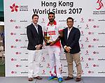 Nizakat Khan of Hong Kong receives the MVP award during Day 2 of Hong Kong Cricket World Sixes 2017 Award Presentation at Kowloon Cricket Club on 29 October 2017, in Hong Kong, China. Photo by Vivek Prakash / Power Sport Images