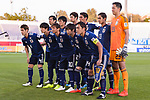 Players of Japan line up and pose for photos prior to the AFC Asian Cup UAE 2019 Group F match between Japan (JPN) and Uzbekistan (UZB) at Khalifa Bin Zayed Stadium on 17 January 2019 in Al Ain, United Arab Emirates. Photo by Marcio Rodrigo Machado / Power Sport Images