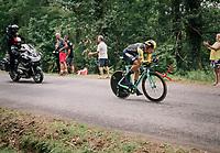 Primoz Roglic (SVK/LottoNL-Jumbo) carcks under pressure and tumbles from the Tour podium into 4th place<br /> <br /> Stage 20 (ITT): Saint-Pée-sur-Nivelle >  Espelette (31km)<br /> <br /> 105th Tour de France 2018<br /> ©kramon